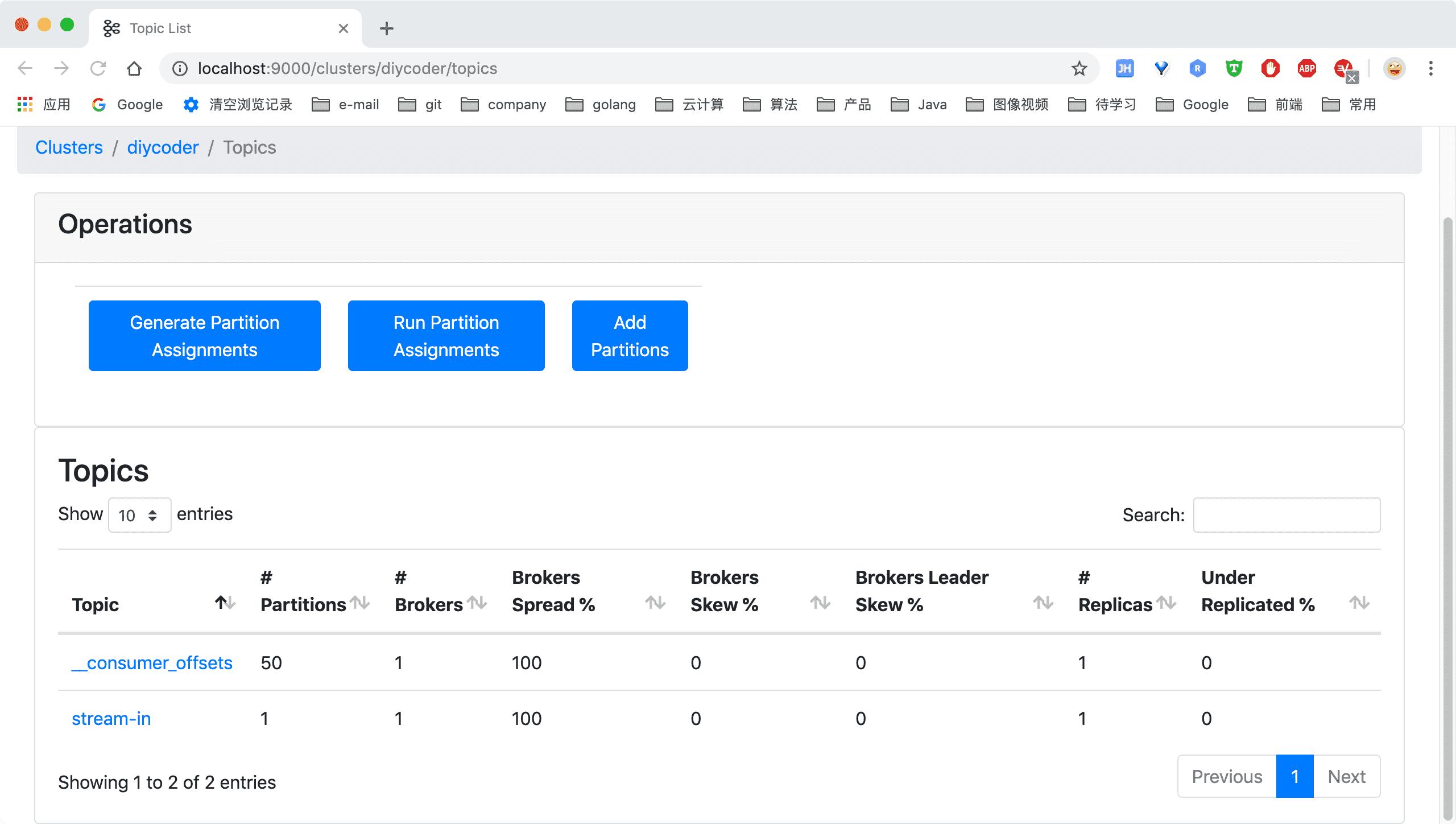 Golang 实践 —— Docker搭建 Kafka 集群及监控