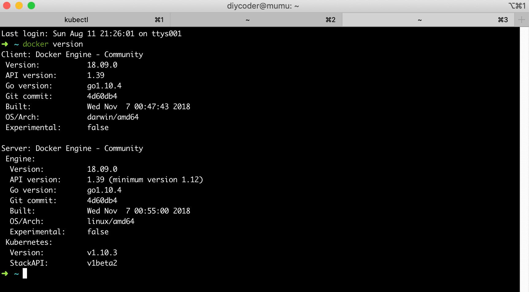 docker for mac 安装 kubernetes、kubernetes dashboard